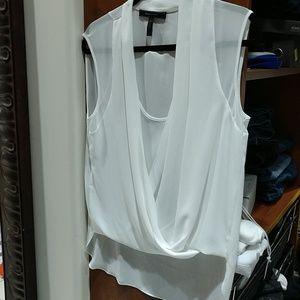 Bcbg off white blouse